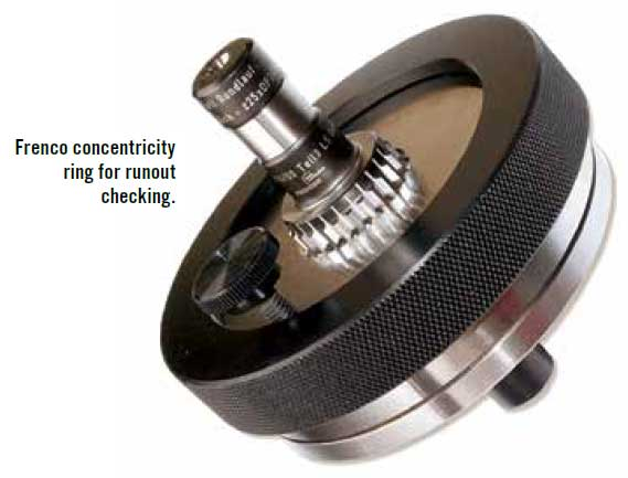 Frenco Concentricity ring for runout checking