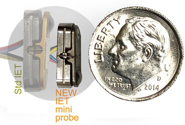 Knaebel IET min-probe compared to standard IET probe